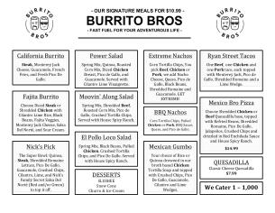 Burrito Bros Signature Meals (2)